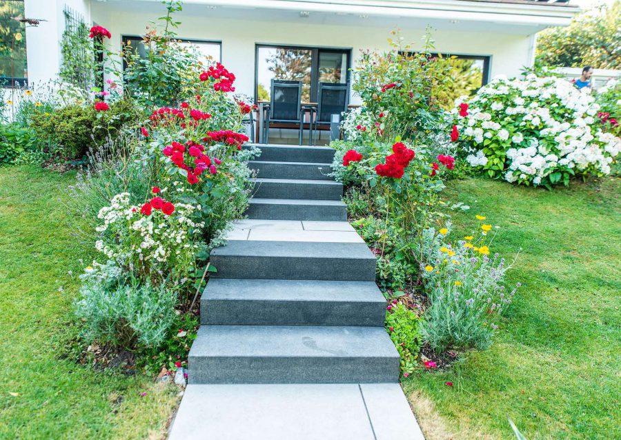 Treppen bei Gartengestaltung in Ratingen